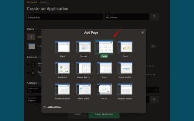 En Oracle APEX 20.2 tenemos un nuevo componente Cards