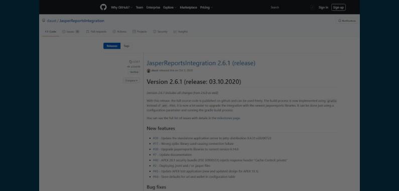 Buenas noticias! JasperReportsIntegration 2.6.1 ha sido lanzado!