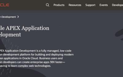 Gran noticia! Disponible el Desarrollo Low-Code con el nuevo Servicio Oracle APEX